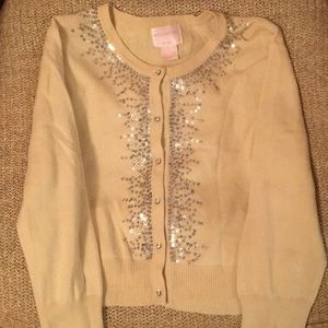 Central Park West yellow cardigan embellished
